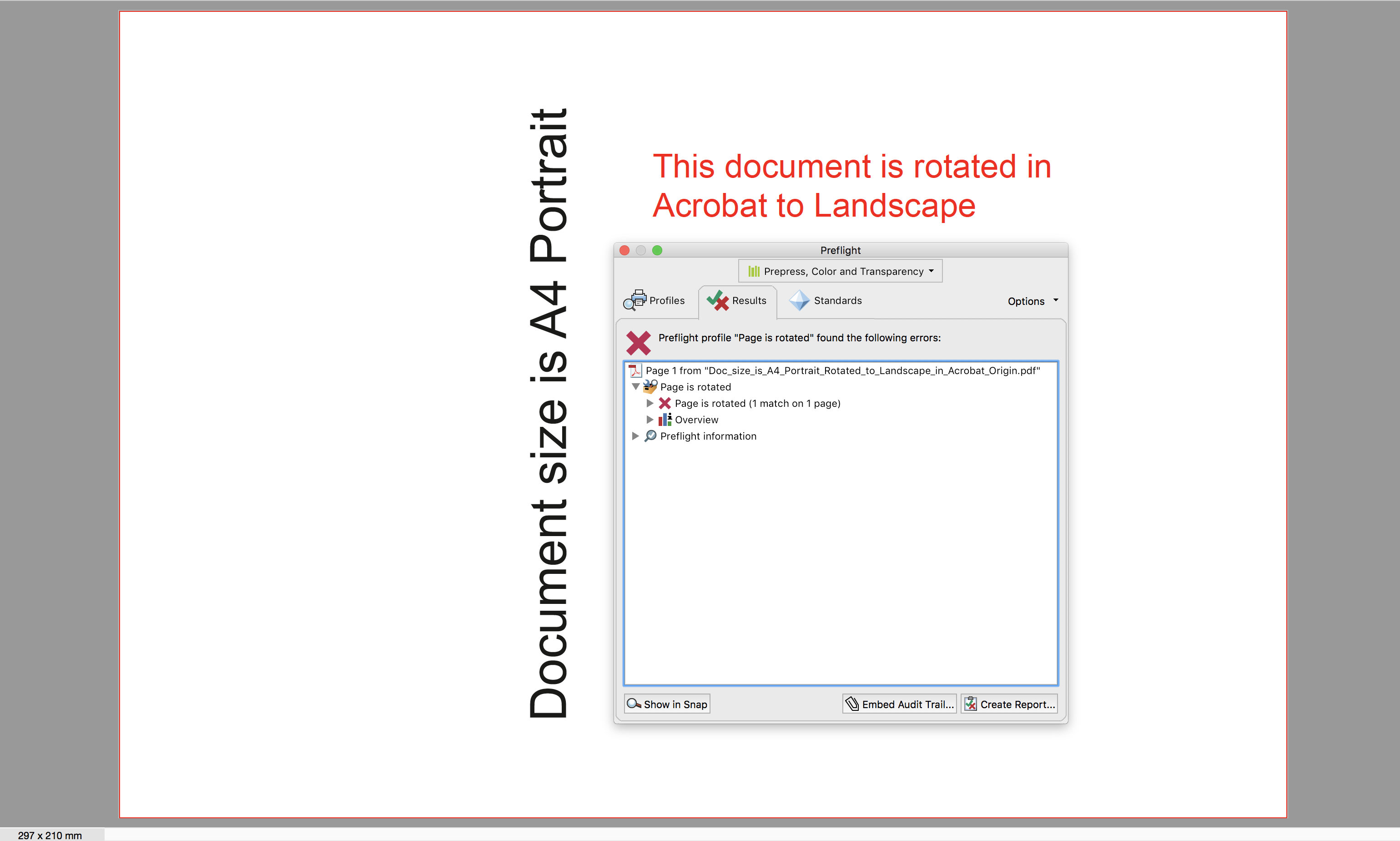 Screen Shot Rotated Page in Acrobat