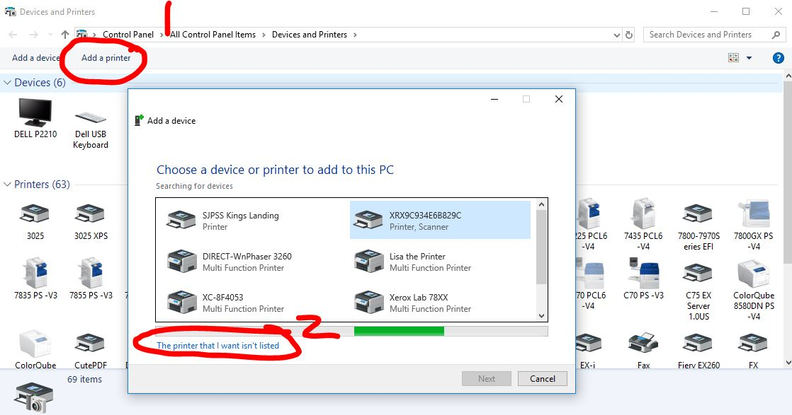Solved How To Print From Windows 10 Pro 64 Laptop To 7830