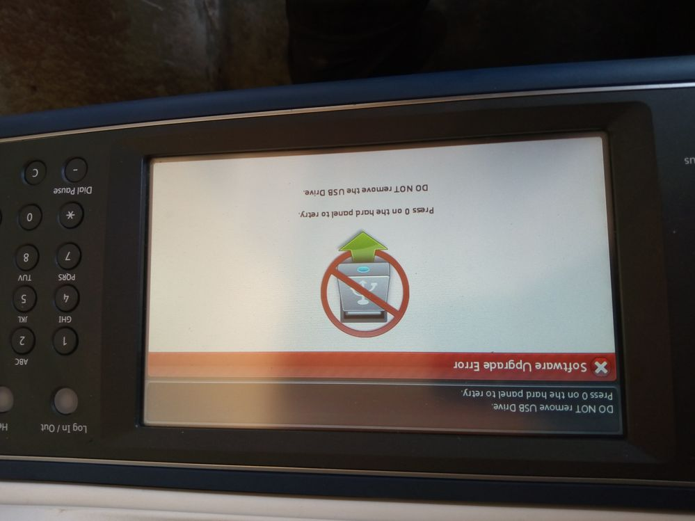 this is the error message its shoes when i'm upgrading the firmware