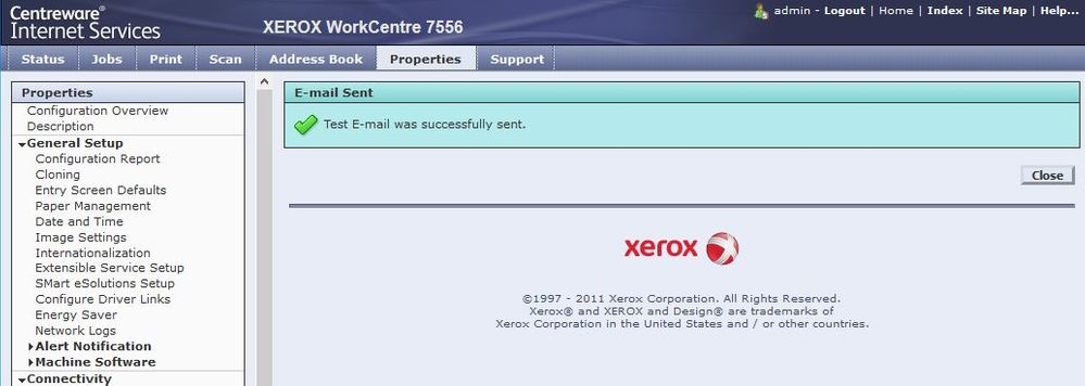 Can T Get Xerox Workcentre 7530 To Scan To E Mail Customer
