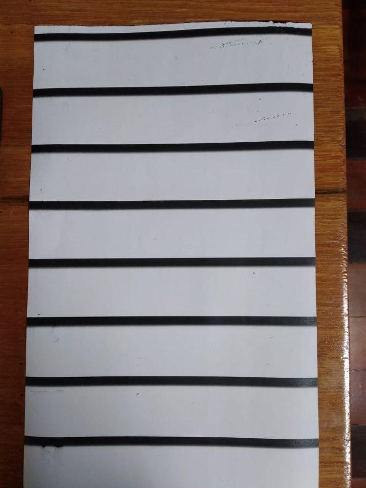 print sample with horizonal bars