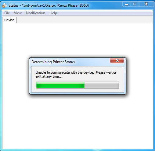 Solved Phaser 8560 Printer Status Error Dialog Box And