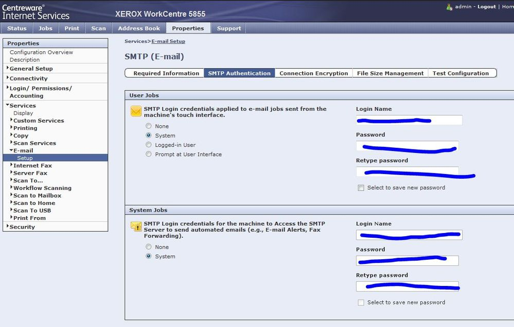 Workcentre Scan To Email Settings To Exchange Serv Customer