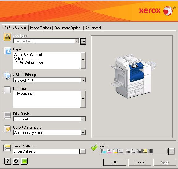 Solved Xerox Workcentre 7855 Select B W Or Color Customer