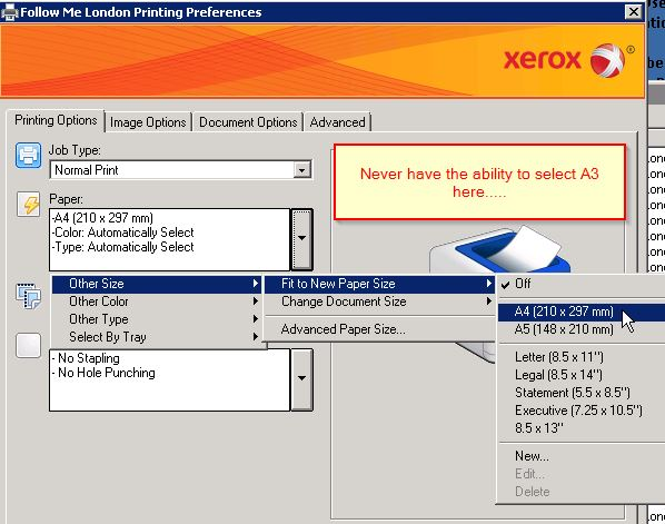 Solved Xerox Pull Print Driver No A3 Possible Customer