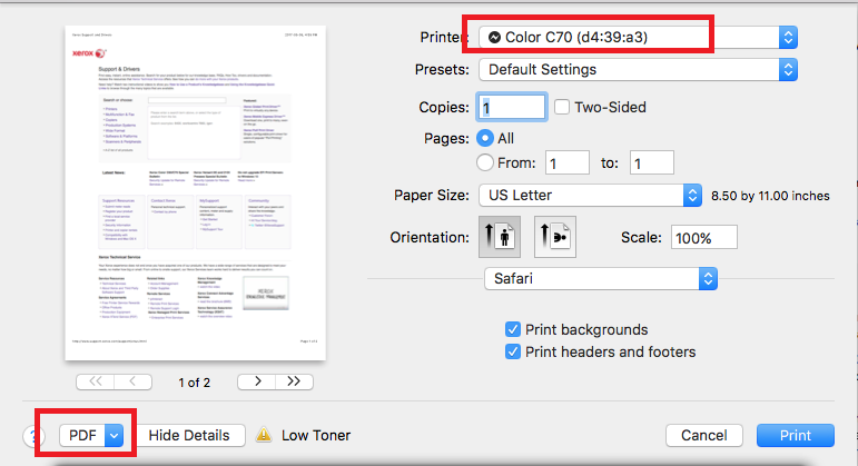 Solved Xerox Features Driver Doesn T Load In Safari 10