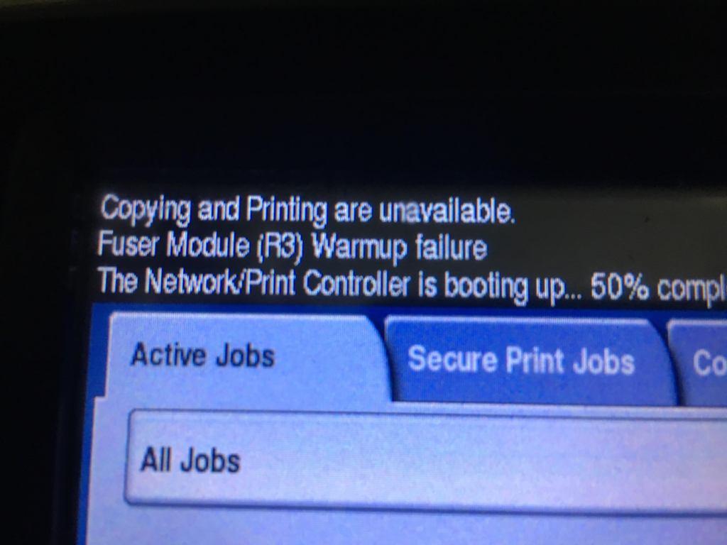 Xerox Wc 5755 Fuser Module Warm Up Failure Customer Support Forum