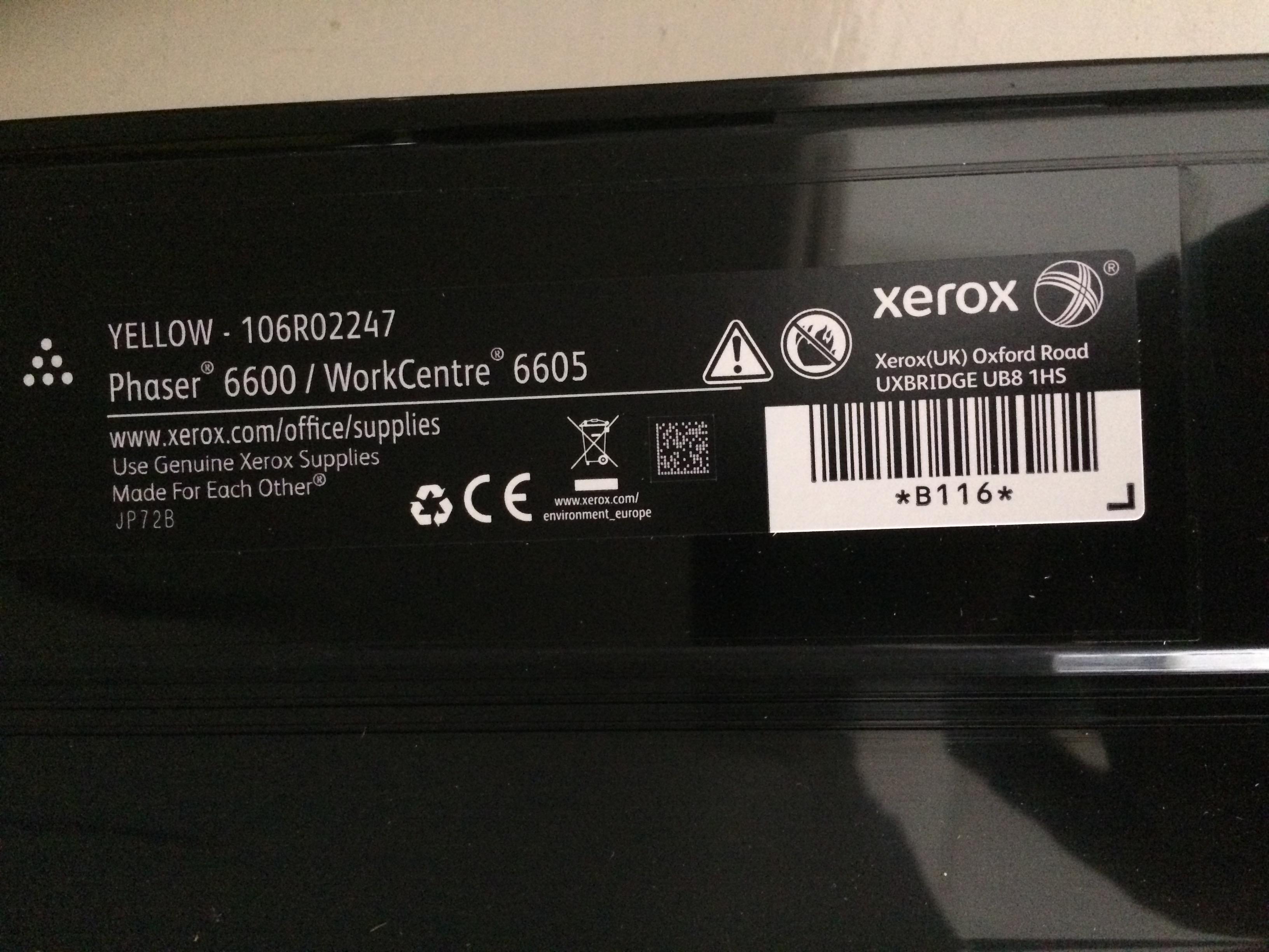 Solved: Invalid Toner Phaser 6600 with new Genuine toner - Customer