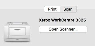 Xerox 3325 Scanning