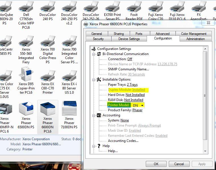 Phaser 6600DN - Will no longer print Duplex thru d