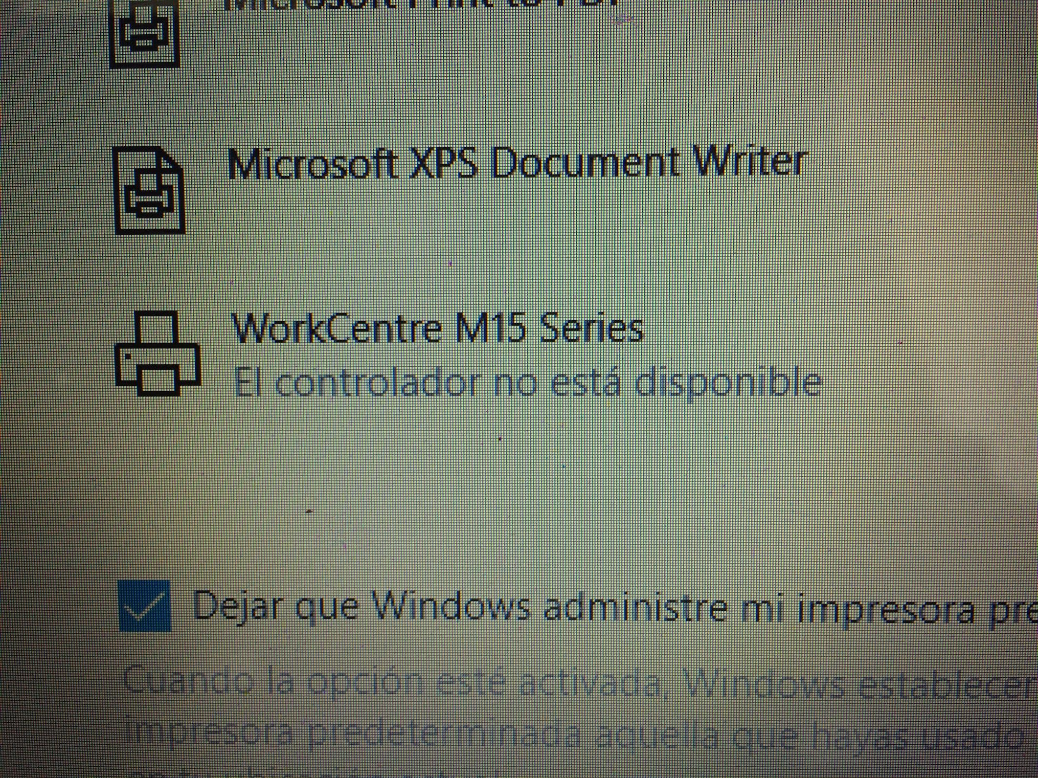 WorkCentre M15