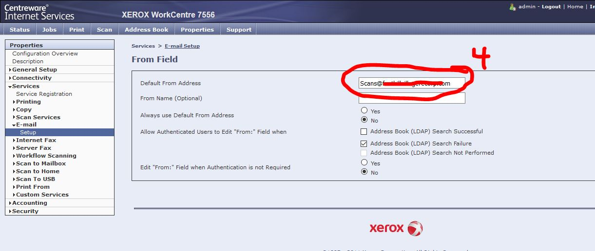 Xerox 7535 Office 365 scan to email settings - Customer Support Forum