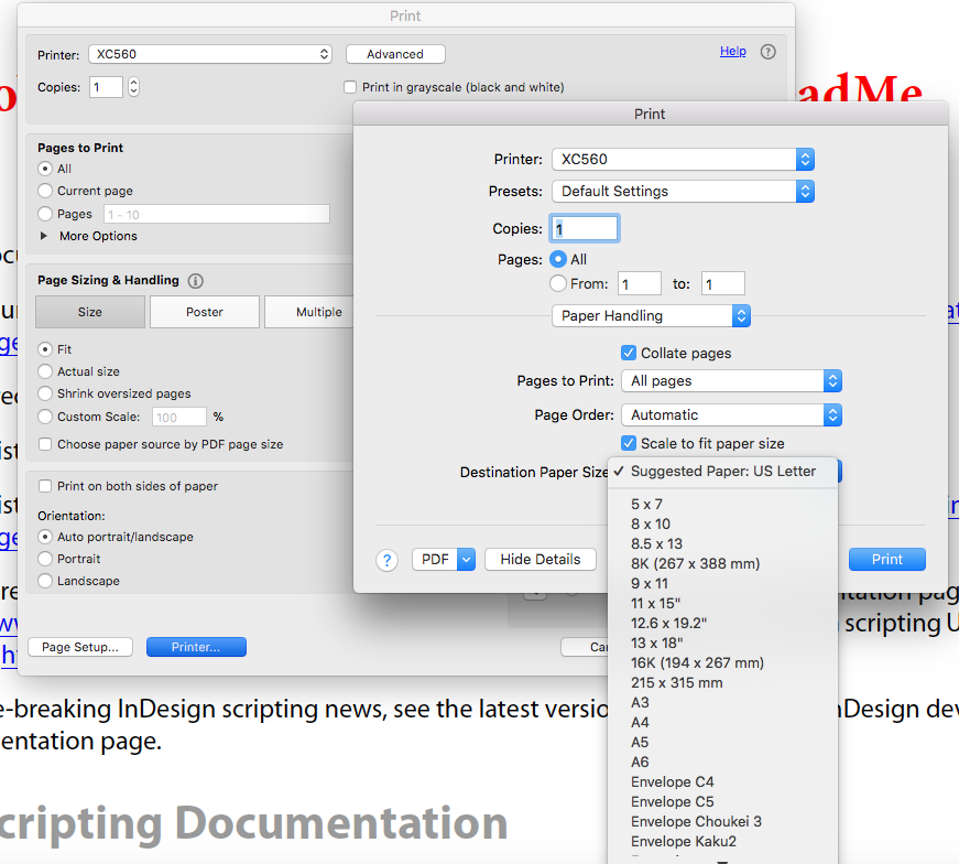 A3 option missing from paper size - Mac - 560 Prin