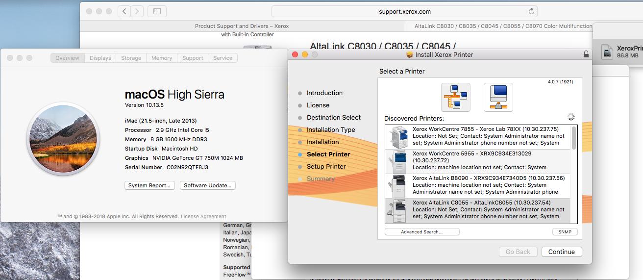 xerox 7855 drivers for mac