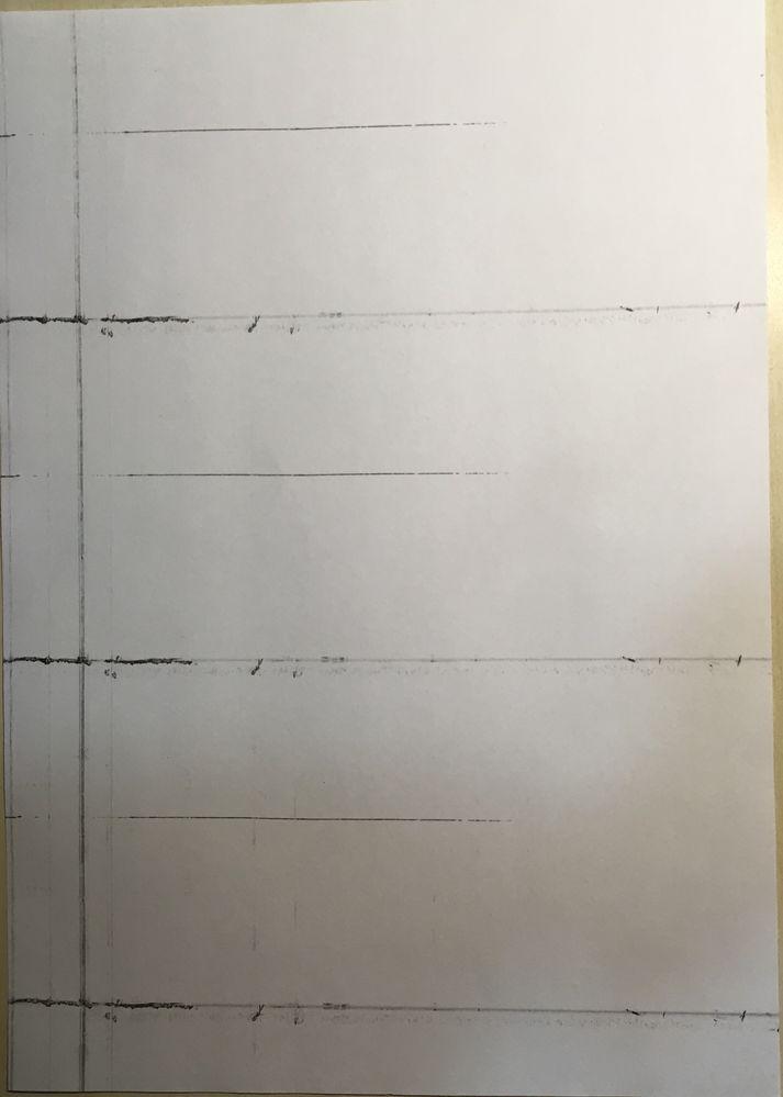 Xerox Horizontal Lines