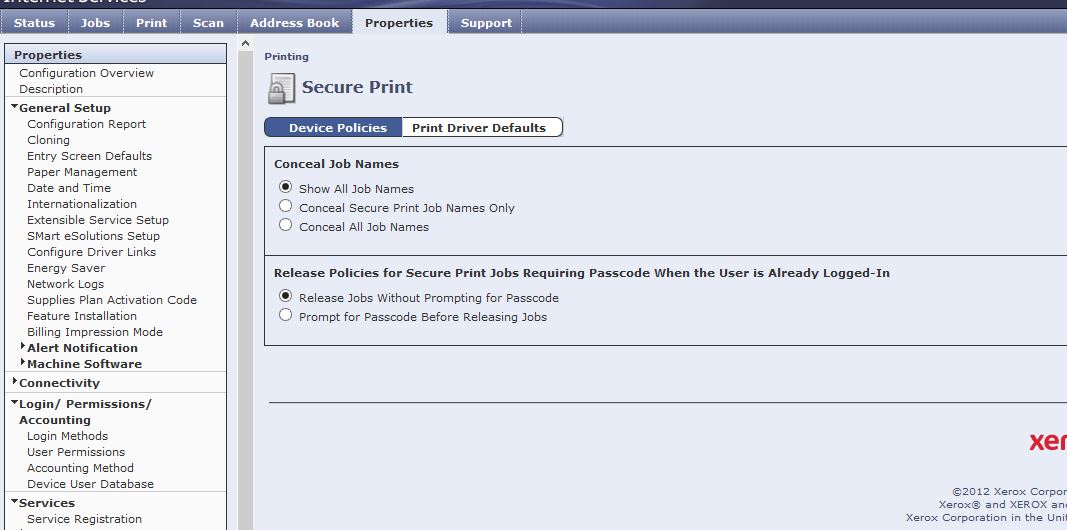 Solved: Secure Print nothing is sent to the print - Customer