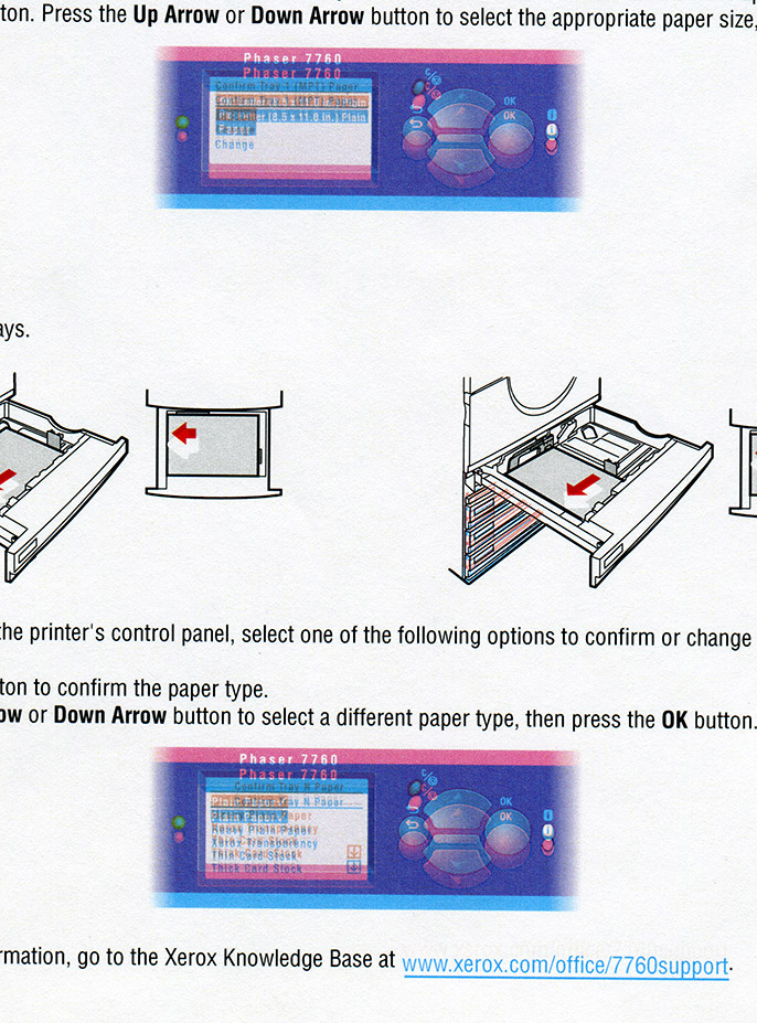 Xerox 7760, problem with printing  Help - Customer Support Forum