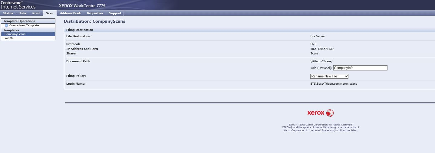 Scan to Network Folder - Customer Support Forum