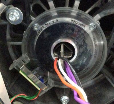 Sensor wheel cover removed