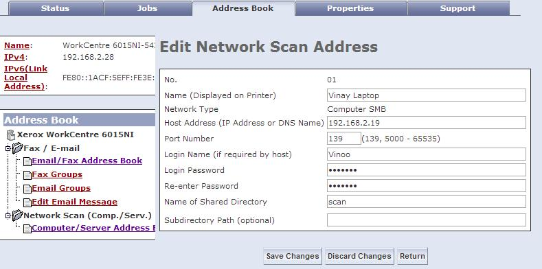 Solved: 6015 Network Scan give SMB Error 031-529 Login Fai