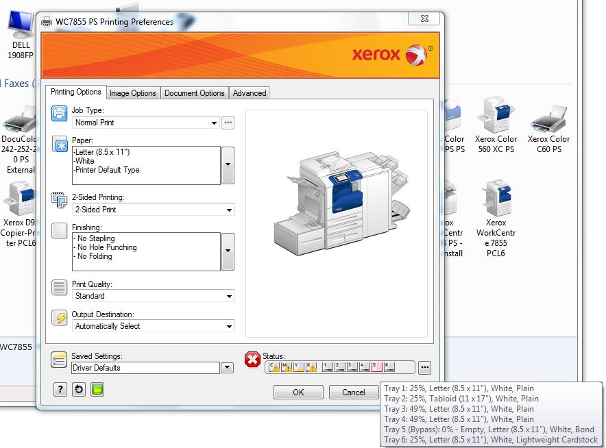 Xerox 5135, xerox 5150 5845, 5735, 5855 jam error. You clear the.