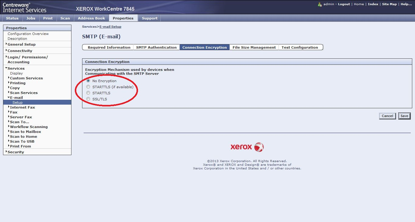 Solved: Xerox 7845 not sending scan to email - Customer Support Forum