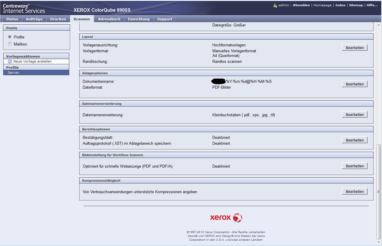 Solved: Scanning XEROX ColorQube 8900S SMB / FTP - Customer Support