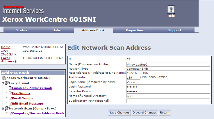Solved: 6015 Network Scan give SMB Error 031-529 Login Fai    - Page