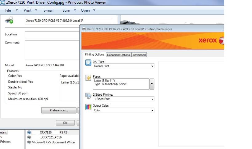WorkCentre 7120 Secure Print Option Missing in Ser