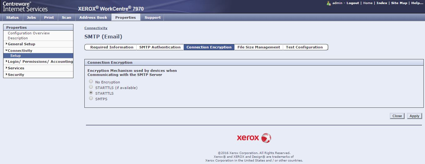 Xerox 7225 Scan to Office365 with SSL  - Customer Support Forum
