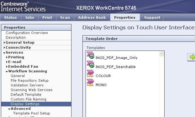 Solved: WorkCentre 5745 - Colour and Mono Templates on Wor