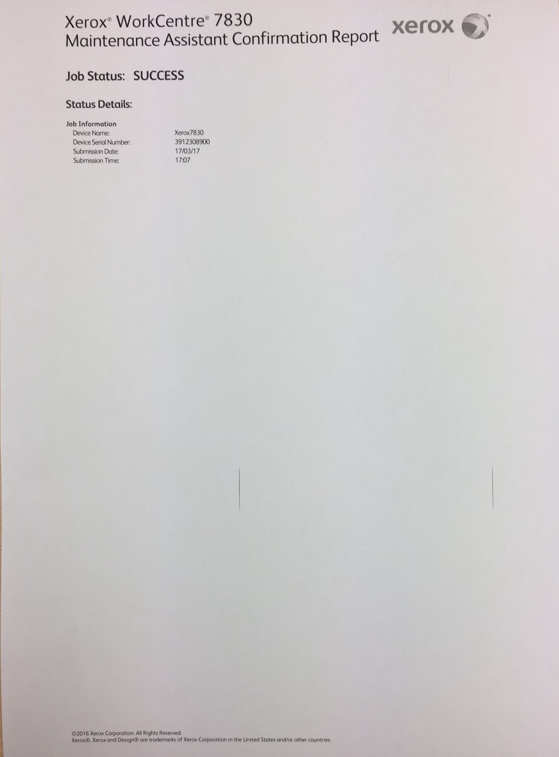 Solved: Vertical Repeating Black Lines when Printing WorkC
